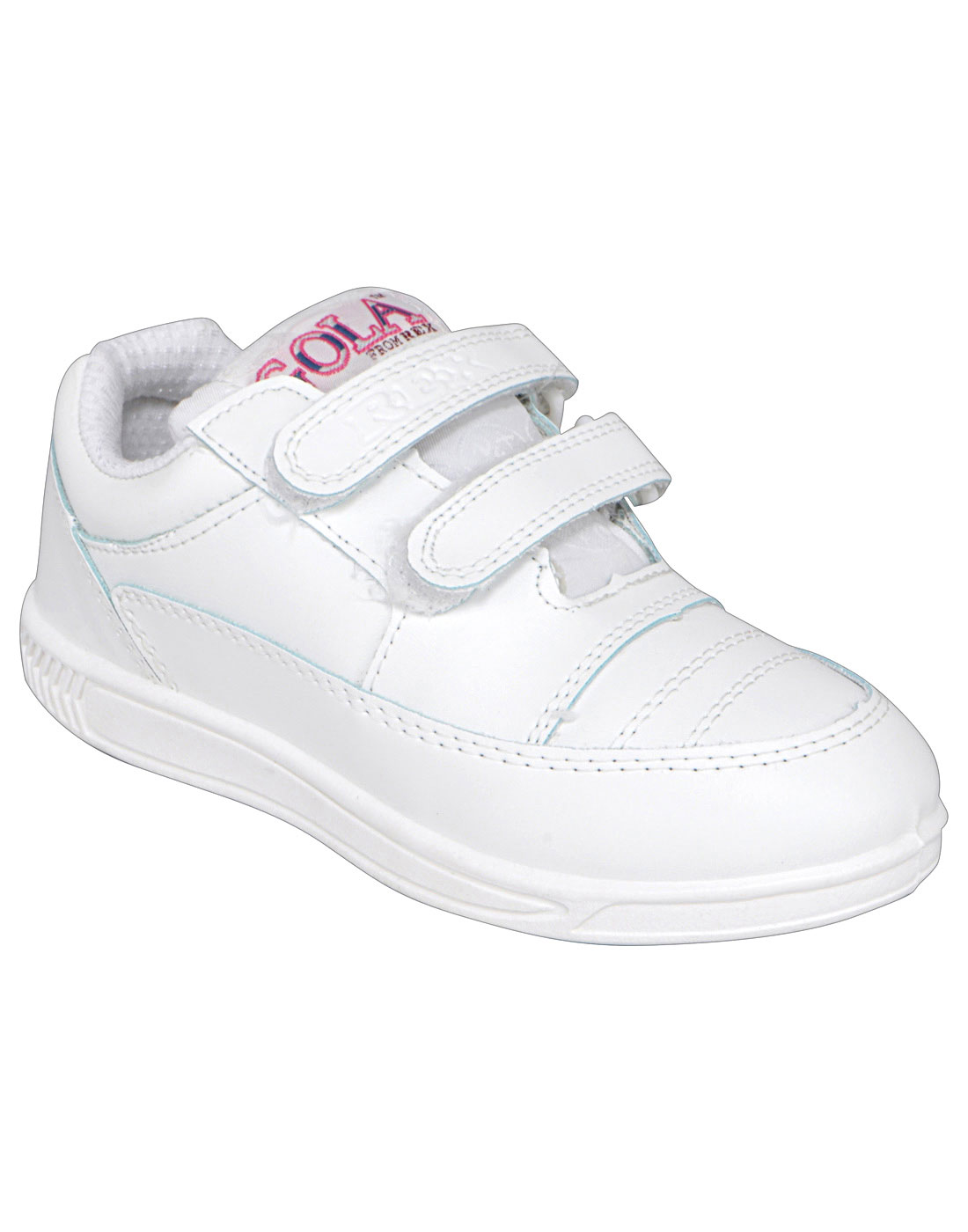 White Velcro School Shoes